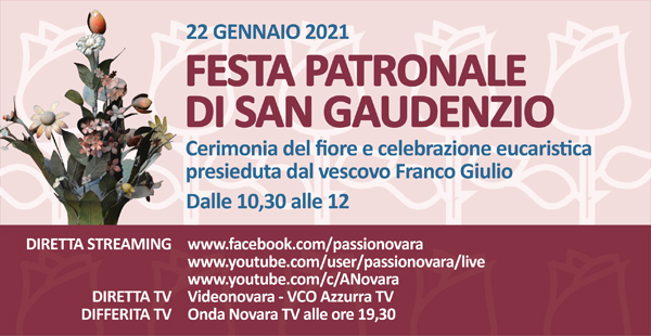 San Gaudenzio 2021 in streaming e TV